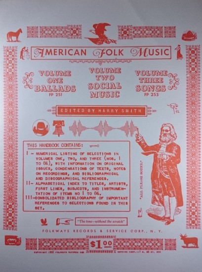 Smith's booklet for the Anthology of American Folk Music